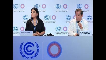 COP20: Ecuador denuncia falta de compromiso de países desarrollados