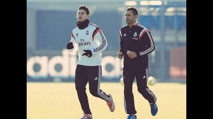 James Rodríguez volvió a entrenar de cara al Mundial de Clubes