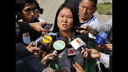 Keiko Fujimori recomienda a Humala cambiar al ministro de Justicia