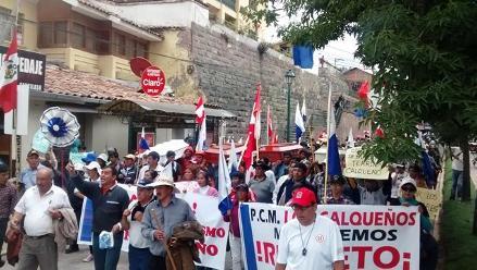 Más de 3 mil pobladores de Calca se movilizaron en Cusco