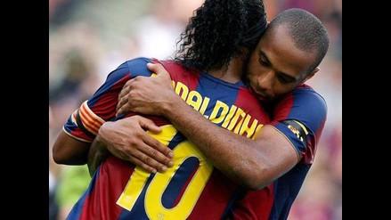 Ronaldinho y el emotivo mensaje de despedida a su amigo Thierry Henry
