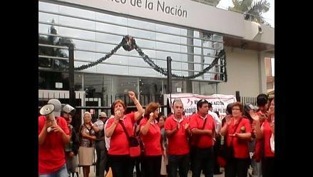 Chiclayo: trabajadores del Banco de la Nación inician paro indefinido