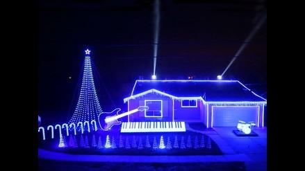 YouTube: Navidad y Star Wars se mezclan en sorprendente juego de luces