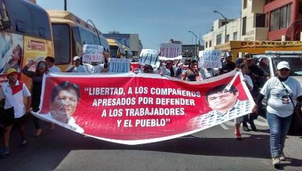 Chimbote: piden liberación de exdirigentes presos por ´La Centralita´