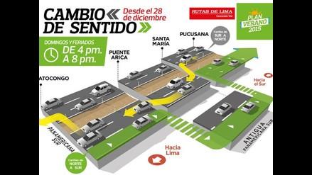 Rutas de Lima: desde el domingo 28 cambiará sentido de la Panamericana Sur