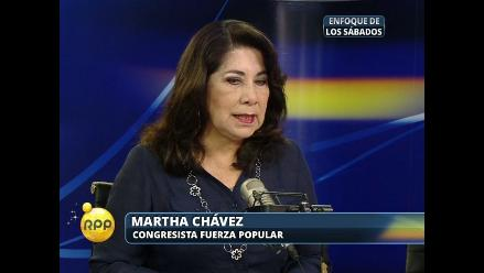 Martha Chávez a críticos de Ley Jóvenes: No han leído dictamen