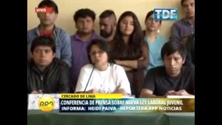Jóvenes de gremios hacen un llamado para una reforma democrática laboral