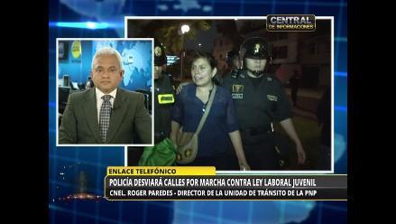 Ley Jóvenes: Recomiendan a choferes evitar el Centro de Lima esta tarde