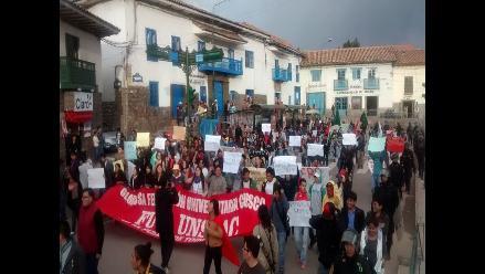 Estudiantes de provincia también protestaron contra la Ley Laboral Juvenil