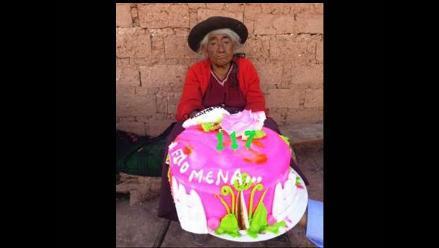 Filomena Taipe, la usuaria más longeva de pensión 65 cumplió 117 años
