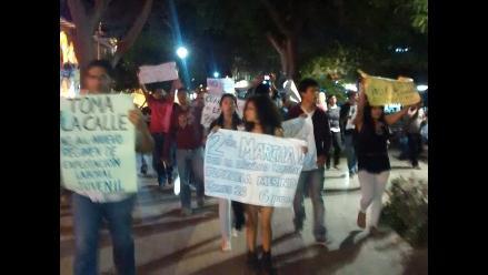 Piura: reportan enfrentamientos en marcha contra la Ley Laboral Juvenil