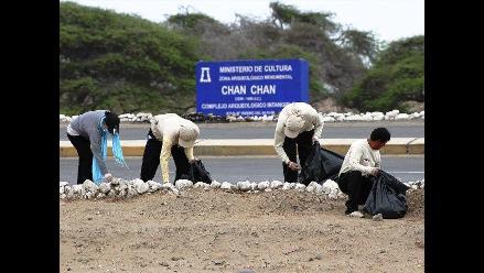 Trujillo: recuperan áreas verdes de Complejo Chan Chan