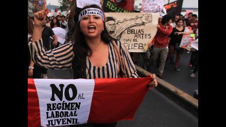 Ley Jóvenes: Lo que la marcha nos dejó en la Plaza San Martín en Lima