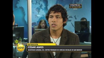 Ley Jóvenes: Dirigente estudiantil rechaza apoyo de Alan García