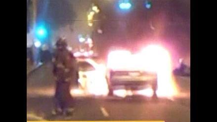 Humareda en estacionamiento del Jockey Plaza no dejó heridos