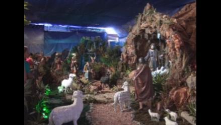 Elaboran gran nacimiento navideño en la Catedral de Trujillo