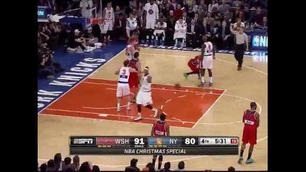 NBA: Jornada de Navidad empezó con bronca entre Wizards y Knicks