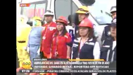 Ugarte espera que disminución de emergencias se mantengan en Año Nuevo