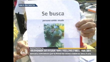 Buscan a sordomudo que desapareció en centro comercial de Los Olivos