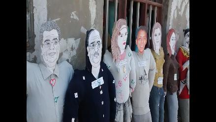 Chimbote: muñecos de Álvarez y Arroyo con más demanda para Año Nuevo