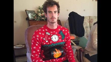 Twitter: Andy Murray celebró las Navidades con esta hilarante foto
