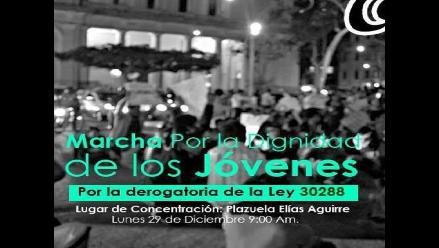 Lambayeque: jóvenes realizarán nueva protesta contra ´Ley Pulpín´