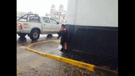 Cajamarca soportó más de once horas de persistente lluvia
