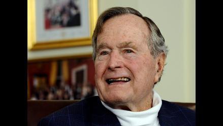 El expresidente George H.W. Bush vuelve a respirar con normalidad