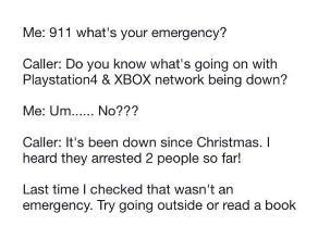 EEUU: Joven llamó al 911 por caída de PlayStation Network y Xbox Live