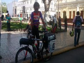 Chiclayo: veterinario recorre el mundo en bicicleta por el medio ambiente