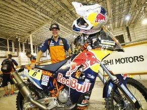 Dakar 2015: británico Sam Sunderland sorprende y gana primera etapa en motos