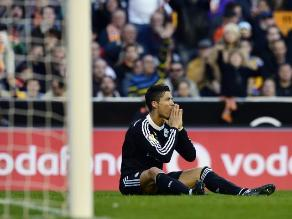Valencia 2-1 Real Madrid: Cristiano Ronaldo y su increíble gol fallado