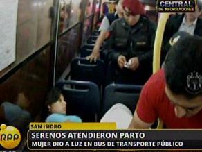 Madre dio a luz en un bus de transporte público en San Isidro