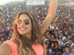Milett Figueroa celebró la primera semana del 2015 en Chiclayo