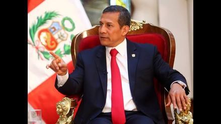 Las frases que dejó la primera entrevista del 2015 de Ollanta Humala