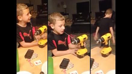 YouTube: Niño se saca un diente usando un taladro eléctrico