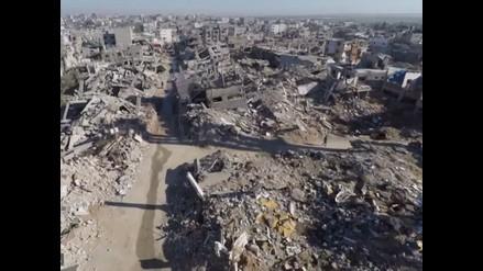 YouTube: Así viven los palestinos entre los escombros de Gaza