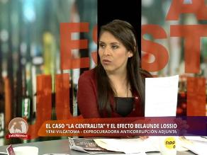 Exprocuradora Vilcatoma: Fuga de Martín Belaunde Lossio ha sido digitada