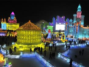 Impresionantes imágenes del festival de hielo en China