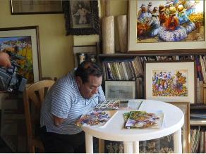 Félix Espinoza: No tener brazos no le impidió ser un notable pintor
