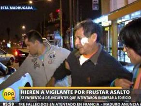 Hieren a vigilante de condominio al oponer resistencia a tres delincuentes
