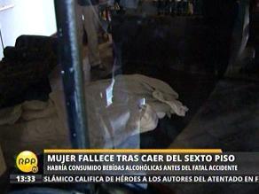 Mujer muere al caer del sexto piso de un edificio en San Isidro