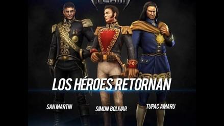 San Martín, Simón Bolívar y Túpac Amaru aparecen en videojuego