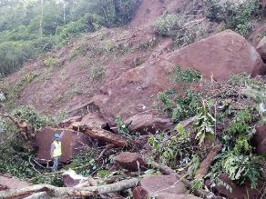 Tarma: huaico bloquea carretera y aísla Selva Central