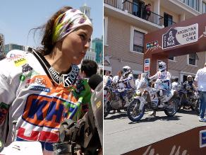 Dakar 2015: Chilenos enloquecieron con la llegada simbólica de pilotos a Iquique