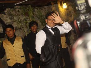 Así fue el ingreso de Christian Domínguez a su boda en Chorrillos