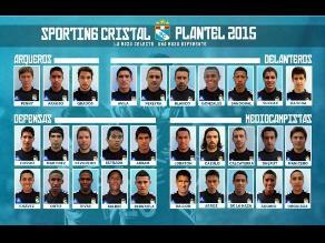 Sporting Cristal confirmó plantel para afrontar la temporada 2015