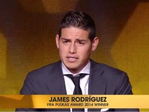 James Rodríguez obtuvo el Premio Puskas 2014