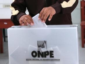 ONPE: candidatos para el 2016 deben ser elegidos en comicios internos