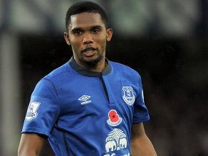 Samuel Eto´o cerca de dejar el Everton y volver a jugar en Italia